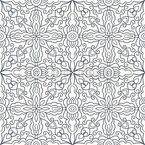 Arabesques Of Ice Seamless Vector Pattern Design