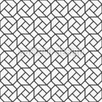 Ineinandergreifende Liniengeometrie Nahtloses Vektormuster