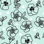 Polka Dot Florals Seamless Vector Pattern Design