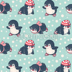 Ice-Skating Penguins Vector Design