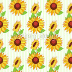 Sunflower Stripes Repeating Pattern