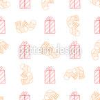 Presentes e Meias Design de padrão vetorial sem costura