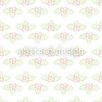 Holly Mistletoe Seamless Vector Pattern Design