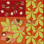 Chestnut Seamless Vector Pattern Design