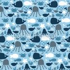 Meeres Blues Vektor Muster