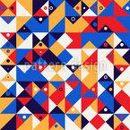 Cercles abstraits sur les triangles Motif Vectoriel Sans Couture