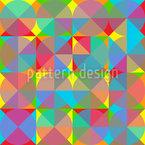 Geometrische Überlappung Nahtloses Vektormuster