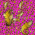 Barocker Leopard Nahtloses Vektormuster