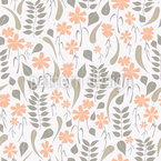 Flora Outono Design de padrão vetorial sem costura