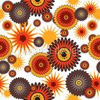 Poder da Flor Retro Design de padrão vetorial sem costura