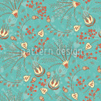 Natashas Garden Dream Mint Seamless Vector Pattern Design