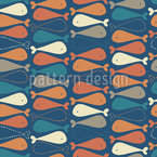 Fish Or Chicken Thigh Seamless Vector Pattern Design