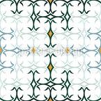 Azulejo Mediterrâneo Design de padrão vetorial sem costura