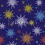 星空の夜 シームレスなベクトルパターン設計
