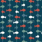Fischgirlanden Nahtloses Vektormuster