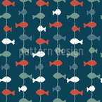Fish Garlands Seamless Vector Pattern Design