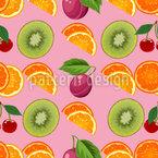 Compilação de frutas Design de padrão vetorial sem costura