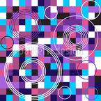 Géométrie abstraite pixels Motif Vectoriel Sans Couture