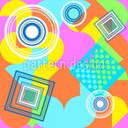 Geometry Overlap Seamless Vector Pattern Design