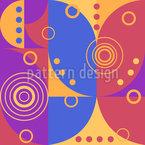 Artistic Overlap Seamless Vector Pattern Design
