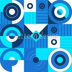 Sobreposição Futurista Design de padrão vetorial sem costura