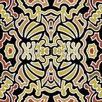 印度地毯 无缝矢量模式设计