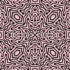 Psychedelische Fliese Nahtloses Vektor Muster