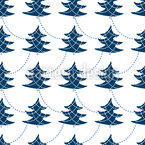 Decorating Christmas Trees Seamless Vector Pattern Design