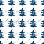 Weihnachtsbäume Schmücken Nahtloses Vektormuster