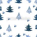 Geschmückte Weihnachtsbäume Nahtloses Vektormuster