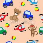 子供のおもちゃ シームレスなベクトルパターン設計