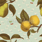Rendevous aux Fruits Motif Vectoriel Sans Couture