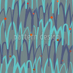 Wavy Curly Nordic Design Pattern