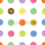Patterned Circles Seamless Vector Pattern Design