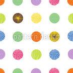 Cercles à motifs Motif Vectoriel Sans Couture