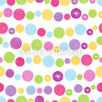 Patterned Circle Confetti Seamless Vector Pattern Design