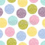 Doodled Dots Motif Vectoriel Sans Couture