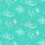 Konturierte Abstrakte Blumen Nahtloses Vektor Muster