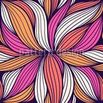 Fleur abstraite Motif Vectoriel Sans Couture
