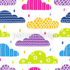 Patterned Clouds Seamless Vector Pattern Design