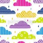 Nuvens Padronizadas Design de padrão vetorial sem costura