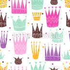 Patterned Crowns Seamless Vector Pattern Design