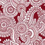 Mehndi Blume Rapportiertes Design