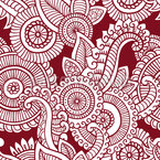 Mehndi Flower Seamless Vector Pattern Design