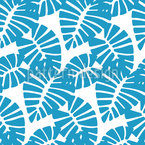 Graphical Banana Leafs Pattern Design