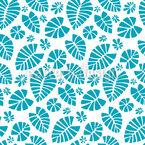 Wasser-Blätter Musterdesign