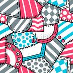 Têxteis E Botões Design de padrão vetorial sem costura