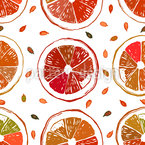 Orange Juteuse Motif Vectoriel Sans Couture