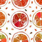 Orangensaftig Nahtloses Vektormuster