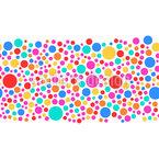 Mehrfarbige Luftblasen Rapportiertes Design